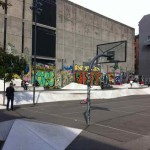 one of the numerous skate spots in the city